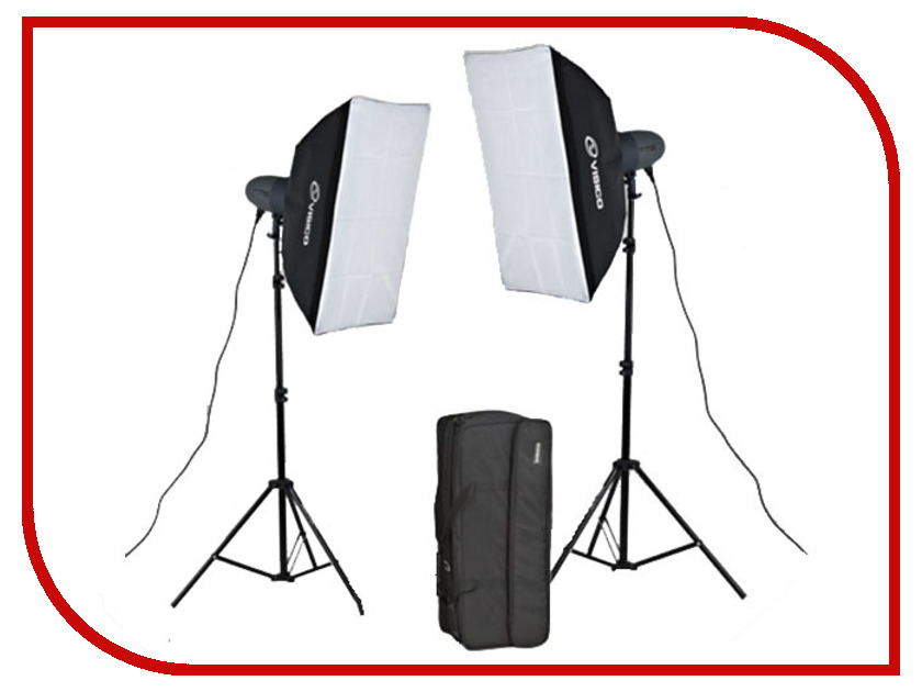 Комплект студийного света Visico VL Plus 200 Soft Box KIT<br>