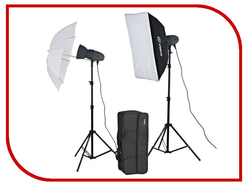 �������� ���������� ����� Visico VL Plus 300 Soft Box/ Umbrella KIT