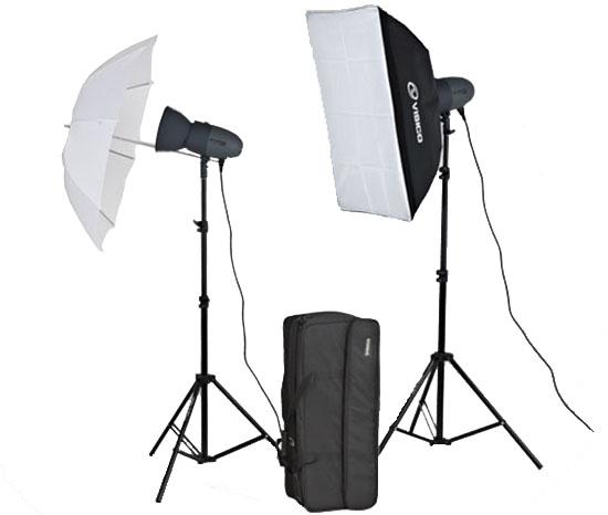 Комплект студийного света Visico VL Plus 300 Soft Box/ Umbrella KIT<br>