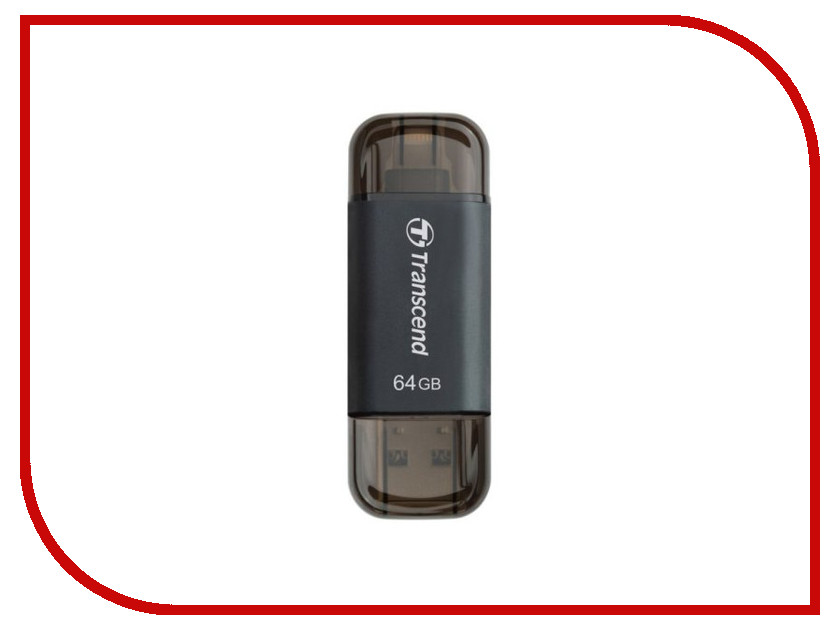USB Flash Drive 64Gb - Transcend JetDrive Go 300 TS64GJDG300K usb flash drive 64gb transcend jetdrive go 300s ts64gjdg300s