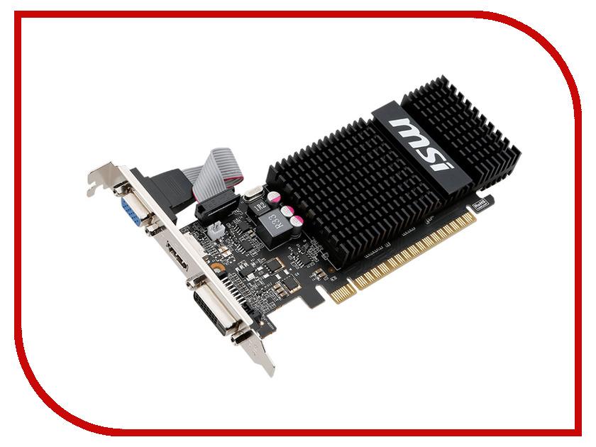 Видеокарта MSI GeForce GT 720 797Mhz PCI-E 2.0 2048Mb 1600Mhz 64 bit DVI HDMI HDCP Silent N720-2GD3HLP<br>