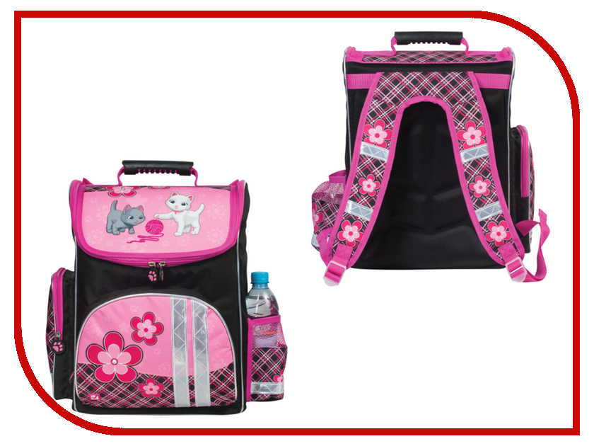 Рюкзак BRAUBERG Pink-Black 225318