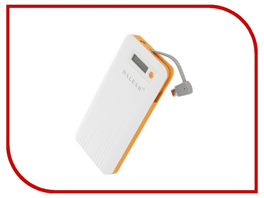 Аккумулятор Dalesh DLS-P15 6000 mAh White-Orange 56814<br>