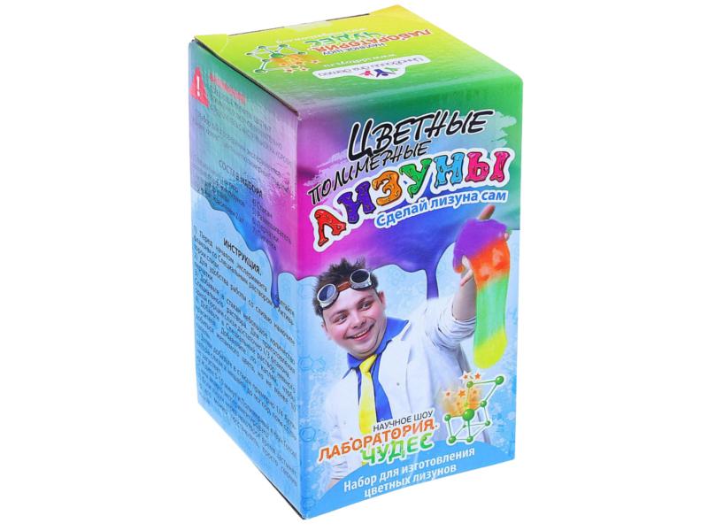 Игра Лаборатория чудес Юный химик Цветные полимерные лизуны 819