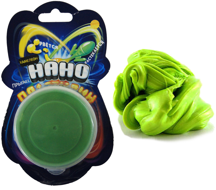 Набор для творчества Creative Studio Нано Пластилин ХАМЕЛЕОН Green-Yellow 83-40CH-1<br>
