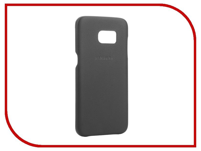 Аксессуар Чехол-накладка Samsung Galaxy S7 Edge Leather Cover Black EF-VG935LBEGRU<br>