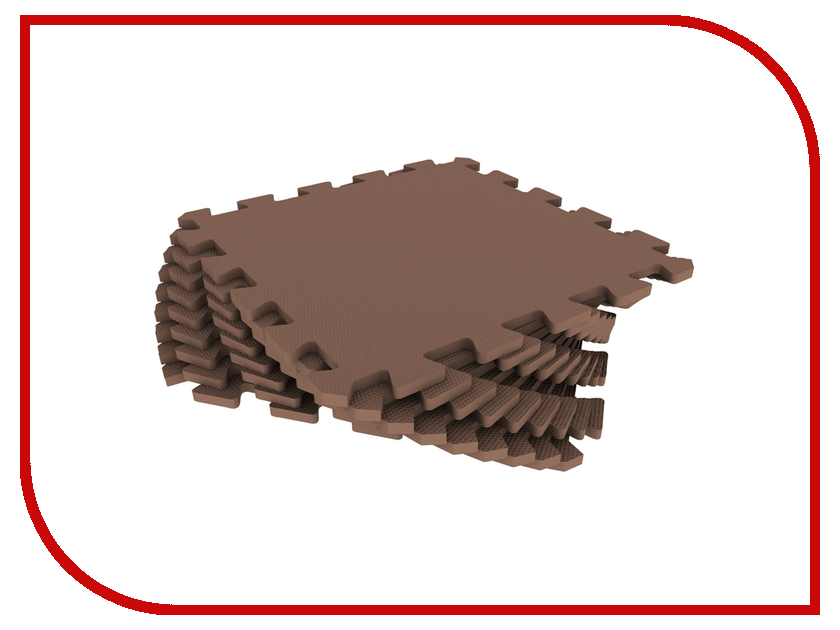 Развивающий коврик Экопромторг Мягкий пол для детской Brown 33МП/4625