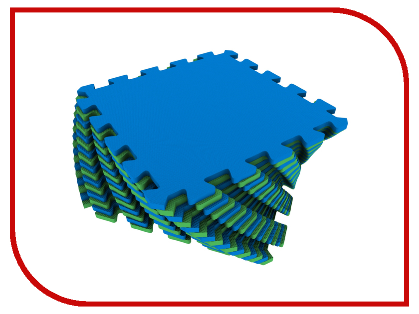 Развивающий коврик Экопромторг Мягкий пол для детской Green-Blue 25МП1/5 коврик пазл для детей мягкий пол купить