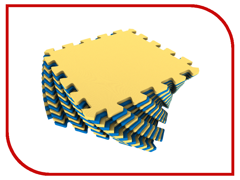 Развивающий коврик Экопромторг Мягкий пол для детской Yellow-Blue 25МП1/6