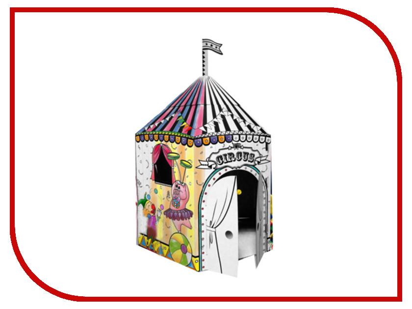 Игрушка Домик Картонный папа Цирк 10589 кукольные домики картонный папа кукольный домик из картона четыре комнаты