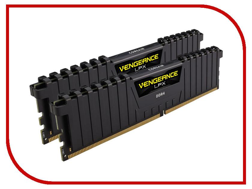 Модуль памяти Corsair Vengeance LPX DDR4 DIMM 2400MHz PC4-19200 CL14 - 8Gb KIT (2x4Gb) CMK8GX4M2A2400C14 модуль памяти dimm 16gb 2х8gb ddr4 pc19200 2400mhz corsair vengeance lpx black heat spreader xmp 2 0 cmk16gx4m2a2400c16