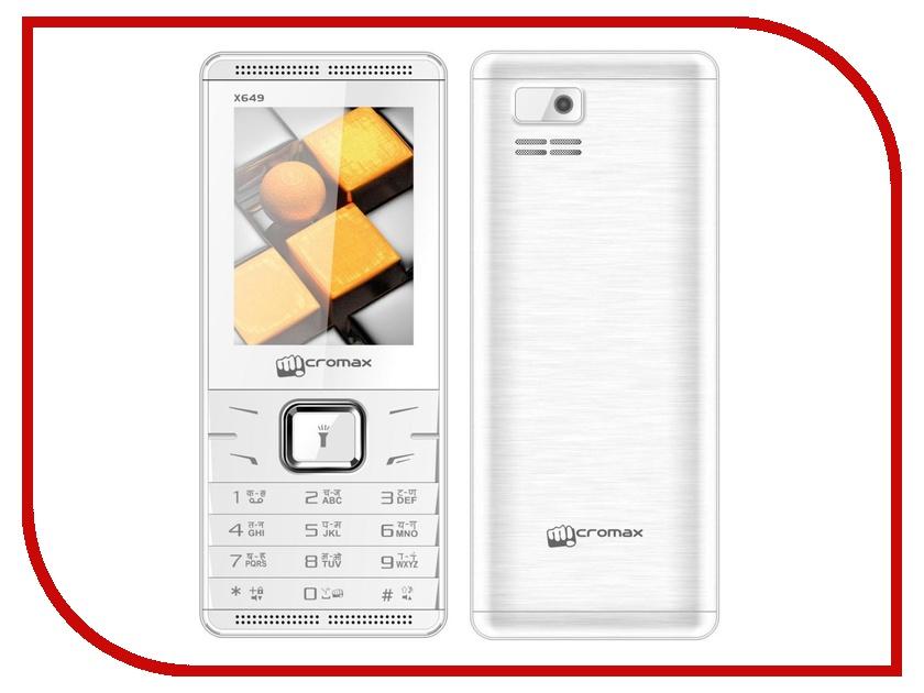Сотовый телефон Micromax X649 White сотовый телефон micromax q326 champagne