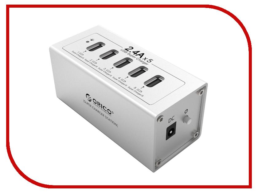 Хаб USB Orico DUB-5P Silver