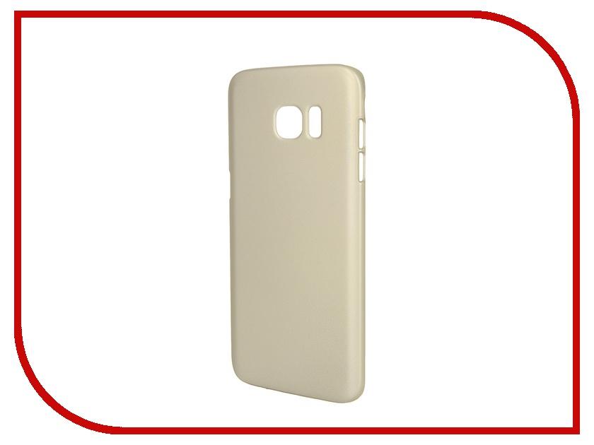 Аксессуар Чехол-накладка Samsung Galaxy S7 Edge Deppa Air Case Gold 83242<br>