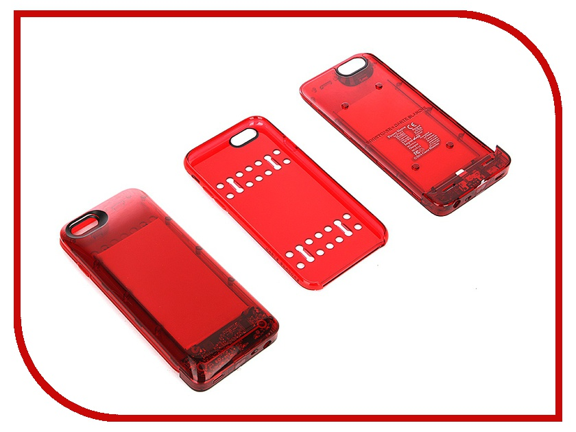 Аксессуар Чехол-аккумулятор Boostcase 2700 mAh для iPhone 6 / 6S Transparent Red BCH2700IP6-RBY<br>
