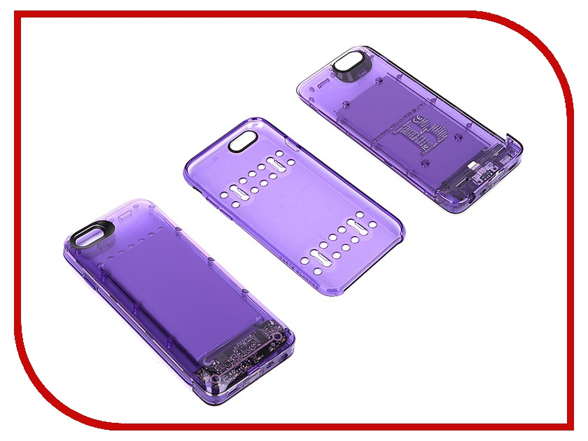 Аксессуар Чехол-аккумулятор Boostcase 2700 mAh для iPhone 6 / 6S Transparent Violet BCH2700IP6-AMT<br>