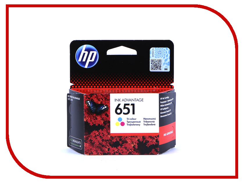 Картридж HP 651 C2P11AE Tri-colour для Deskjet Ink Advantage 5575/5645 1pcs ink cartridge for hp 95 tri color for hp deskjet 6450 6540dt 6540xi c8766w colour inkjet cartridge