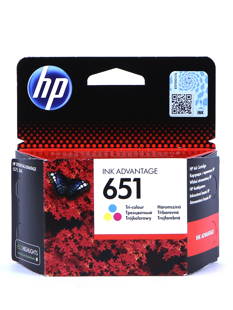 Картридж HP 651 C2P11AE Tri-colour для Deskjet Ink Advantage 5575/5645 картридж hp 651 c2p10ae