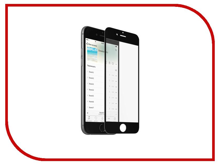 Аксессуар Закаленное стекло DF iColor-05 для iPhone 6 Plus / 6S Plus Black аксессуар закаленное стекло df full screen для iphone 7 plus 8 plus icolor 16 white