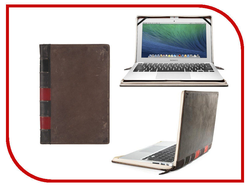 Аксессуар Чехол 12.0-inch Twelve South BookBook для APPLE MacBook Air Brown 12-1507