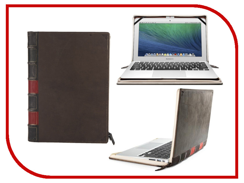 Аксессуар Чехол 13.0-inch Twelve South BookBook для APPLE MacBook Air Black 12-1104<br>