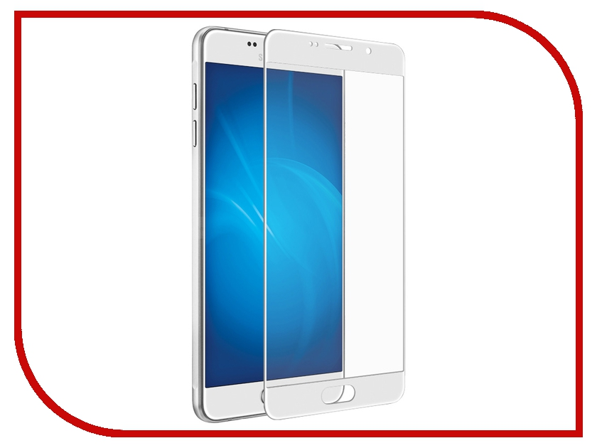Аксессуар Закаленное стекло Samsung Galaxy A5 2016 DF sColor-03 White<br>