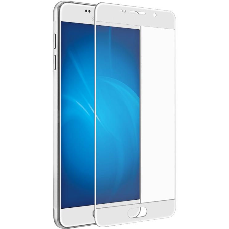 Закаленное стекло DF для Samsung Galaxy A7 2016 sColor-04 White