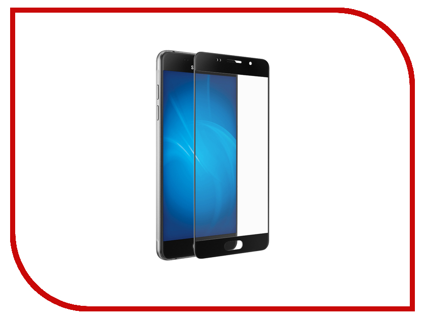 Аксессуар Защитное стекло Samsung Galaxy A5 (2016) 5.2 Red Line Full Screen Tempered Glass Black<br>