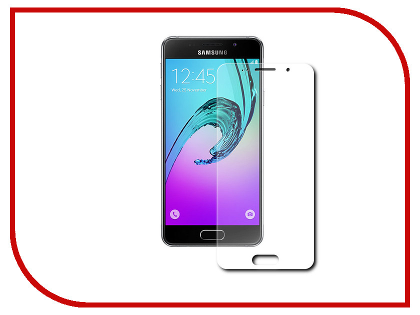 Аксессуар Защитное стекло Samsng Galaxy A7 (2016) 5.5 Red Line Full Screen Tempered Glass Black<br>