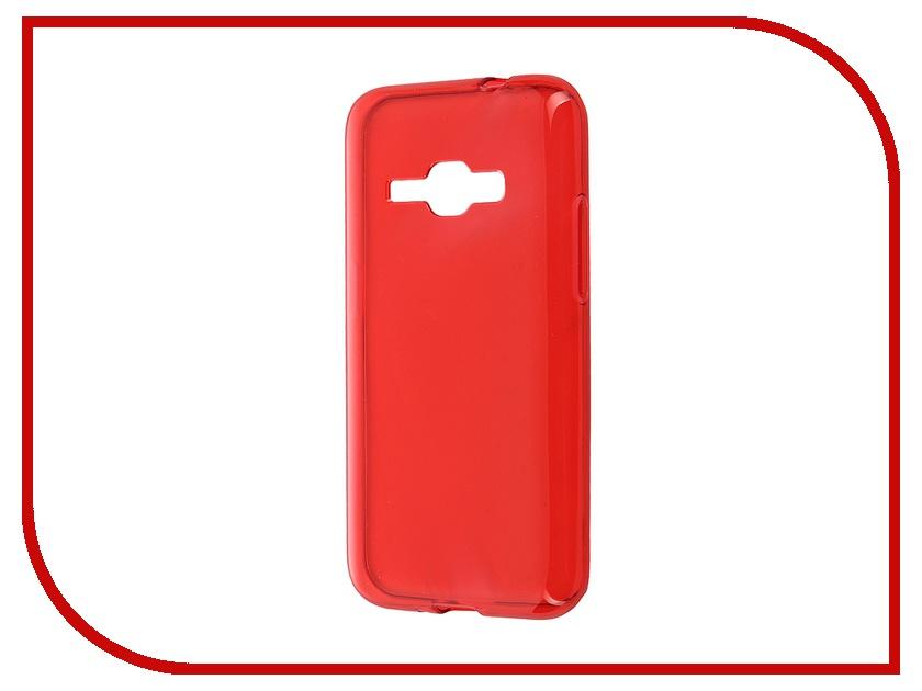 Аксессуар Чехол-накладка Samsung Galaxy J1 (2016) iBox Crystal Red<br>