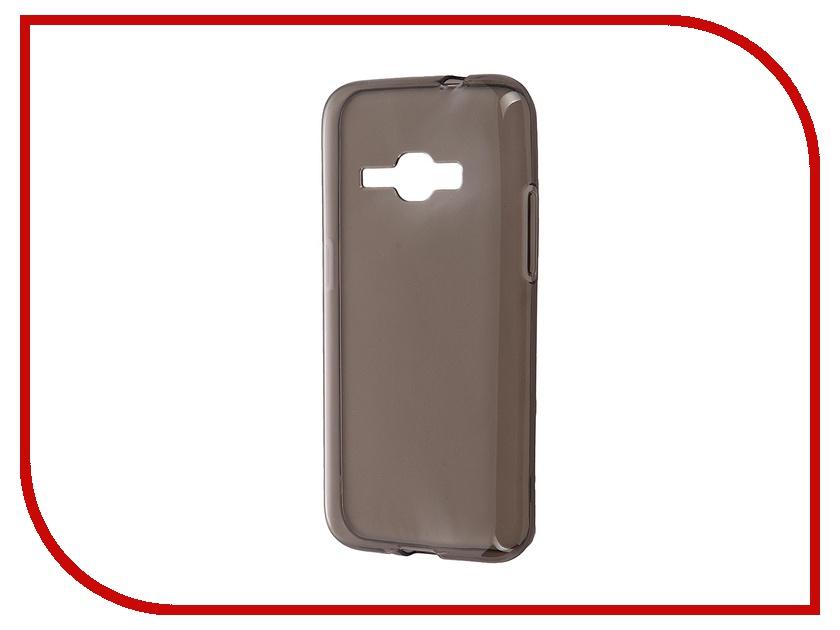Аксессуар Чехол-накладка Samsung Galaxy J1 (2016) iBox Crystal Grey аксессуар чехол накладка samsung galaxy j1 2016 ibox crystal transparent