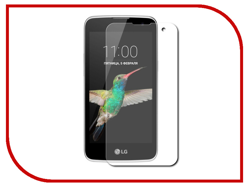 Аксессуар Защитная пленка LG K4 4.5 Red Line