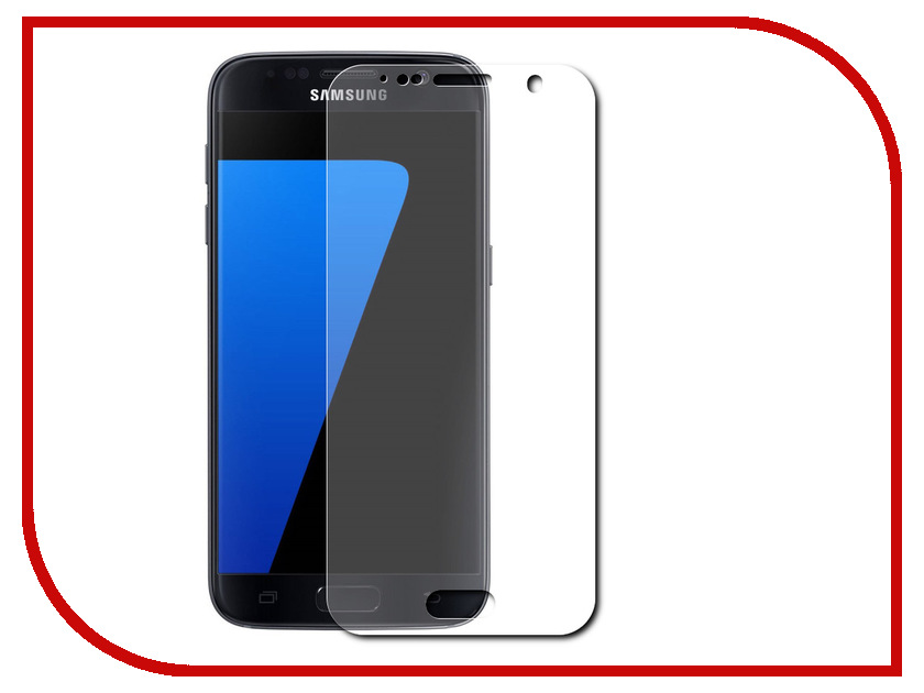 Аксессуар Защитная пленка Samsung Galaxy S7 (5.1) Red Line<br>