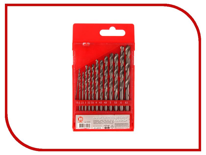 Сверло Калибр 1,5-6,5 мм по металлу 13шт