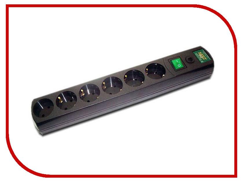 Сетевой фильтр Most RG 6 Sockets 5m Black 587280