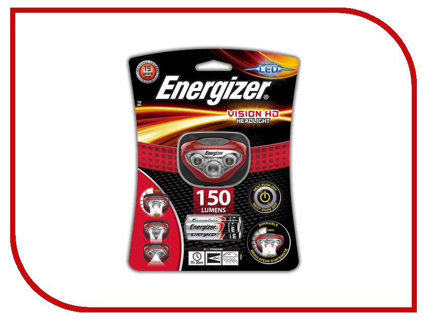 Фонарь Energizer Headlight Vision HD E300280500<br>