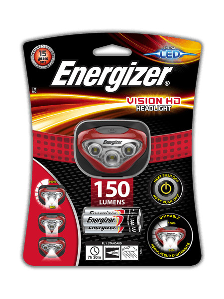 Фонарь Energizer Headlight Vision HD + 3 AAA E300280502 / 28528