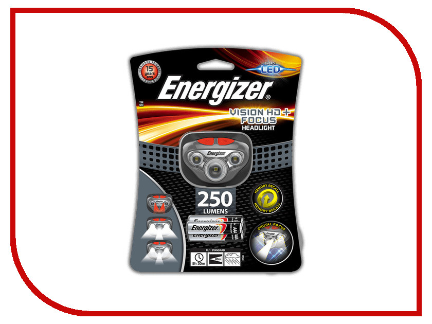 Фонарь Energizer Headlight Vision HD+ Focus E300280700 фонарь haupa 130318 headlight