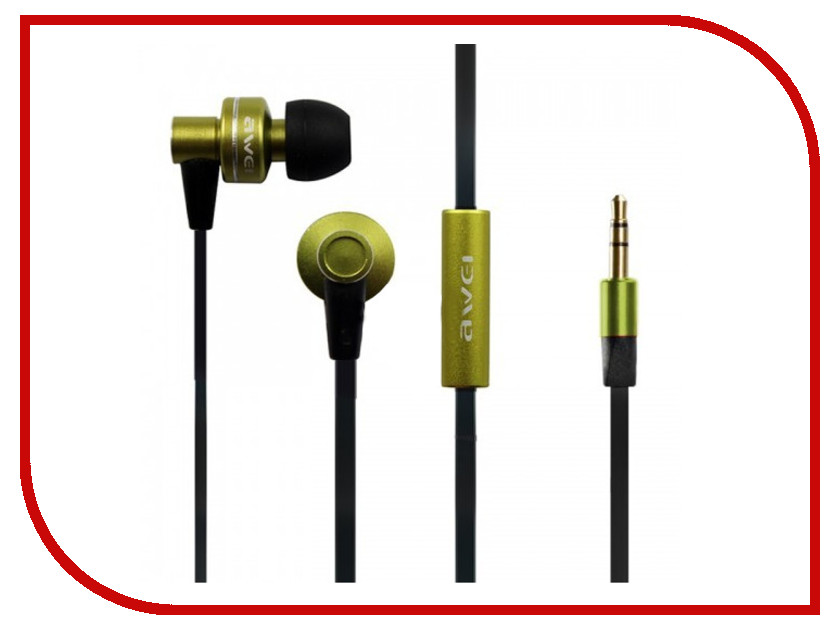 Наушники Awei ES900m Green 08948<br>