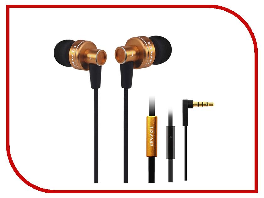 Гарнитура Awei ES900i Golden 08859<br>