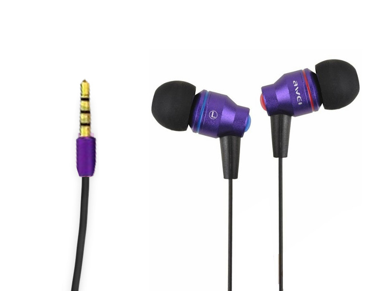 Гарнитура Awei Te800i Purple 08876<br>