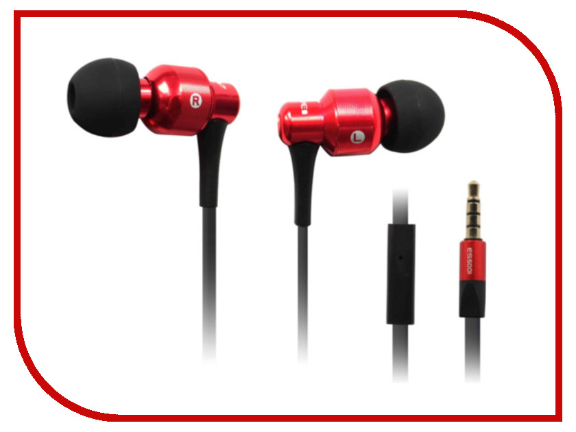 Гарнитура Awei ES500i Black-Red 08885<br>
