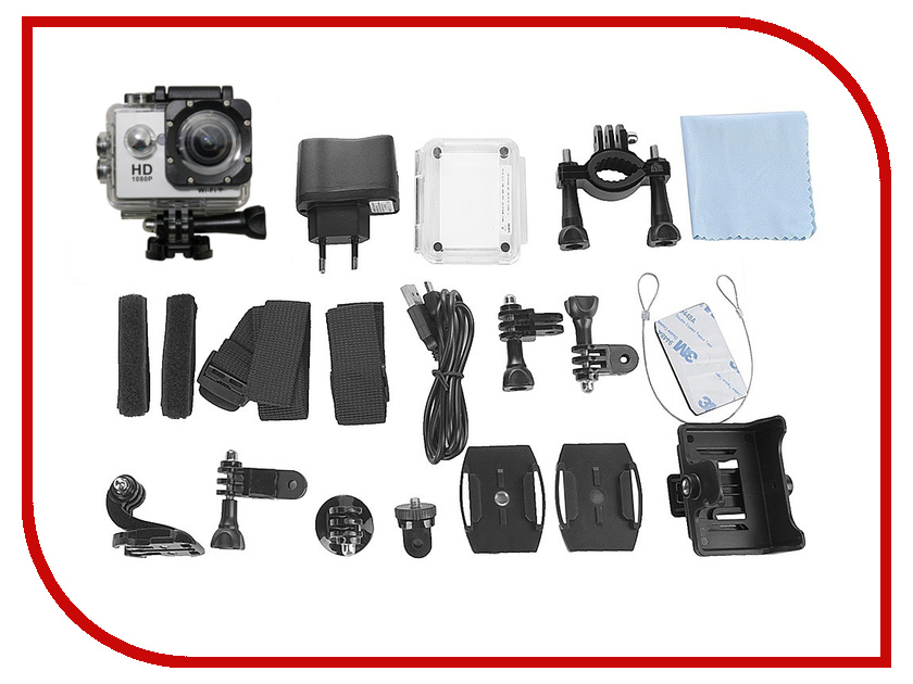 Экшн-камера Palmexx SJ4000 WiFi FullHD Silver PX/CAM SIL free shipping original sj4000 wifi sjcam diving 30m waterproof sport action cam strap harness adjustable elastic chest belt