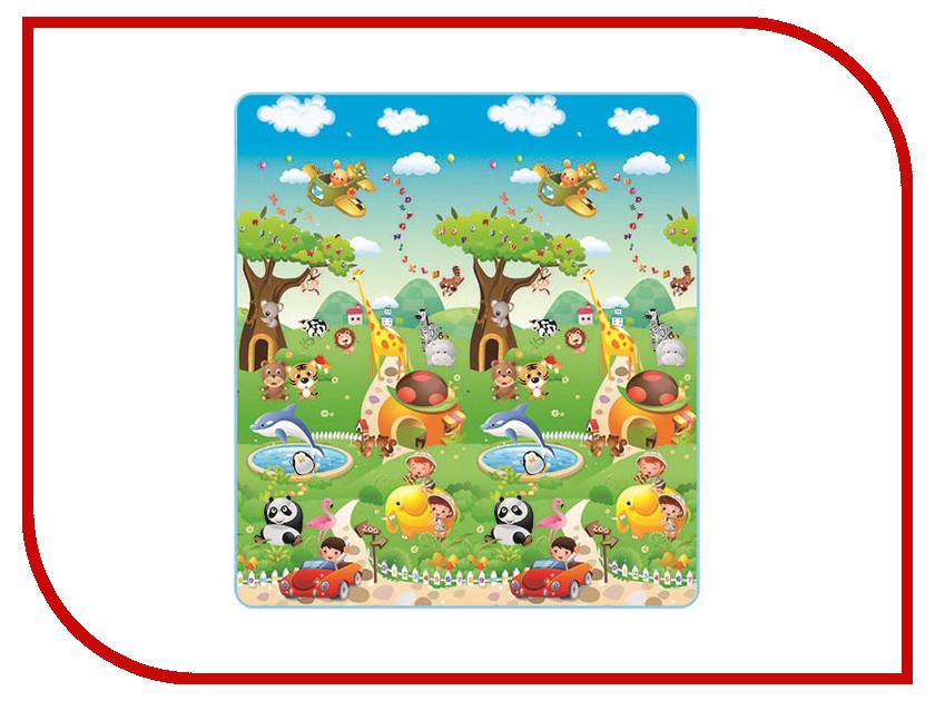 Развивающий коврик Mambobaby Прогулка по Зоопарку 200х180х1см 010ТМ