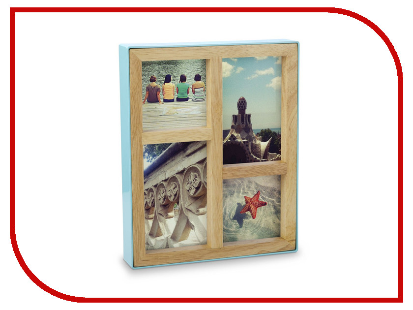 Рамка для фото Umbra Fotoblock Turquoise 313266-522