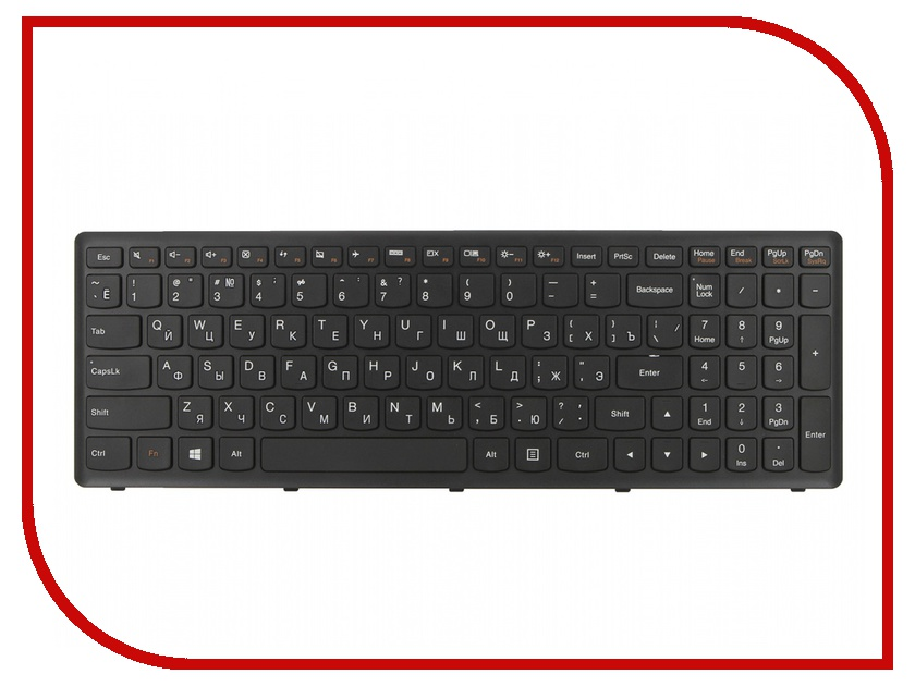 Клавиатура TopON TOP-99921 для Lenovo IdeaPad Flex 15 G500S / G505A / G505G / G505S / S510 / S510p / Z510 Series Black