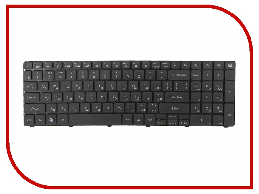 Клавиатура TopON TOP-99923 для Packard Bell TM81 / TM86 / TM87 / TM89 / TM94 / TM98 Series Black