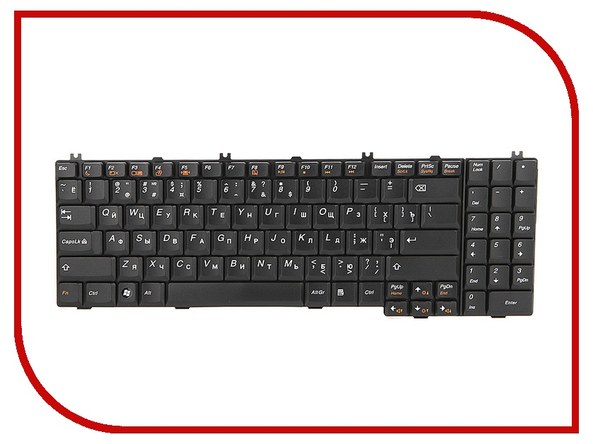 Клавиатура TopON TOP-77210 для Lenovo IdeaPad G550 / G550A / G555 / B550 / B560 / V560 Series Black<br>