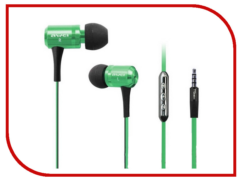 Гарнитура Awei TS130Vi Green 08839<br>
