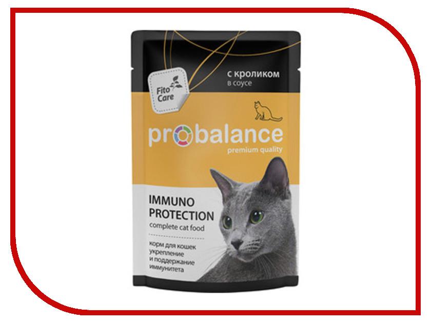 Корм ProBalance Immuno Protection 85g с кроликом в соусе для кошек